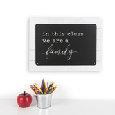 Renewing Minds Classroom Collection, In This Class We Are A Family Wooden Wall Decor, 19 x 14 Inches