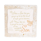Product Concept Manufacturing, When A Son Like You Tabletop Tile, Resin, Stone, 4 x 4 x 1/2 inches