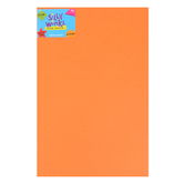 Silly Winks, Thick Foam Sheet, 12 x 18 inches, Orange