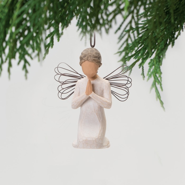 a prayer Willow Tree hand-painted sculpted Ornament a tree