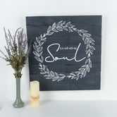 It is Well With My Soul Wall Decor, Wood, Navy and White, 25 x 24 x 1 1/4 inches