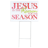 Dicksons, Jesus Is The Reason For The Season Yard Sign, 18 1/2 x 24 inches