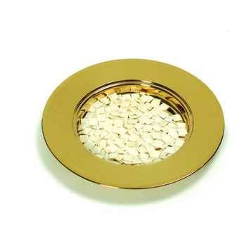 RemembranceWare, Communion Bread Plate, 10 1/8 x 1 1/8 inches, Brass