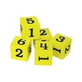 Teacher Created Resources, Foam Numbered Dice 1-6, Kindergarten and Older, 20 Pieces