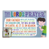 Salt & Light Kids, Matthew 6:9-13 The Lord's Prayer Learning Mat, Plastic, 11 1/2 x 17 1/2 Inches, Ages 4 and up