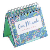 DaySpring, One Minute With God Perpetual Calendar, Paper, 5-1/2 x 5-1/4 x 1-1/4 inches