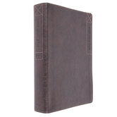 NIV Every Man's Large Print Bible, Imitation Leather, Rustic Brown, Thumb Indexed