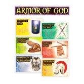 North Star Teacher Resources, The Armor of God Bulletin Board Set, 8 Pieces