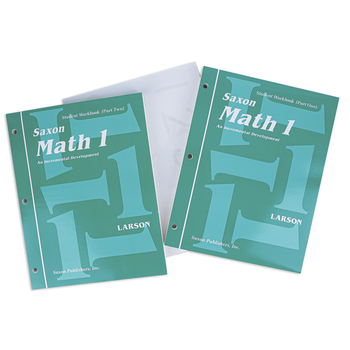 Saxon Math 1 Homeschool Student Work Kit and Fact Cards, 1st Edition, 2 Paperback Books, Grade 1