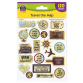 Teacher Created Resources, Travel the Map Motivational Stickers, Multi-Colored, 120 Stickers