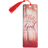 Salt & Light, Be Still and Know Tassel Bookmark, 2 1/4 x 7 inches