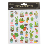 the Paper Studio, Cactus and Succulent Plant Stickers, 27 Stickers