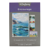 DaySpring, Scenic Charles Stanley Boxed Encouragement Cards, 12 Cards with Envelopes