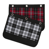 Inkology, Plaid Pattern Binder Pouch, Polyester, 10 3/4 x 8 inches