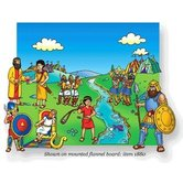 Little Folk Visuals, Beginner's Bible David and Goliath Felt Set, 15 Pieces