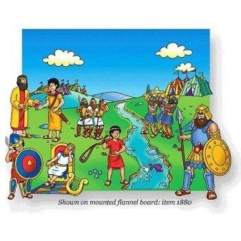 Little Folk Visuals, Beginner's Bible David and Goliath Felt Set, 15 Pieces
