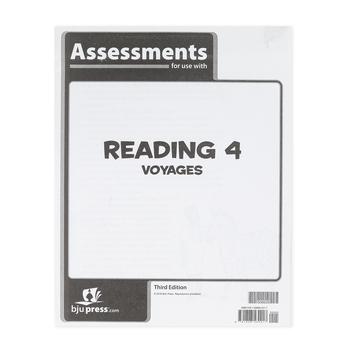 BJU Press, Reading 4 Assessments, 3rd Edition, Paperback, Grade 4