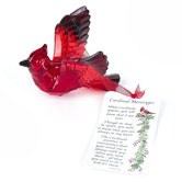 Enesco, Always Near Cardinal Ornament, Red, 3 1/4 inches
