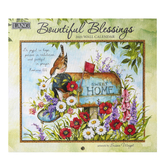 The Lang Companies, Romans 12:12 Bountiful Blessings 2021 Wall Calendar, Linen Embossed Paper, 12 x 12 inches