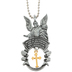 Abbey and CA Gift, Guardian Angel Car Charm, Silver, 8 Inches