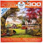 EuroGraphics, Old Pumpkin Farm Large Piece Jigsaw Puzzle, 300 Pieces, 19 1/4 x 26 5/8 inches