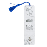 Soul Anchor, Hebrews 6:19 Lapel Pin with Bookmark, Paper and Metal, Blue, 6 inches