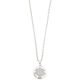 Dicksons, Jeremiah 29:11 Round Medal with Cross Pendant Necklace, Stainless Steel, 24 inches