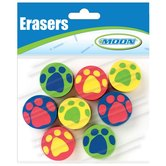 Moon Creative Products, Paw Print Toppers, 1 Inch, Assorted, Pack of 8