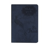 SoulScripts, Whatever You Do Be True, Glossy Flexcover Journal, Midnight Blue, 400 pages