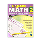 Thinking Kids, Singapore Math Level 2 A and B Workbook, Reproducible Paperback, 256 Pages, Grade 3