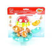 Hape, Teddy's Umbrella Stackers Bath Toy, 6 Pieces, Ages 12 Months and Older