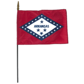 Annin Flagmakers, Arkansas State Flag, Polyester, 8 x 12 inches