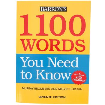 Barron's, 1100 Words You Need to Know, 7th Edition, Paperback, Grades 9-12