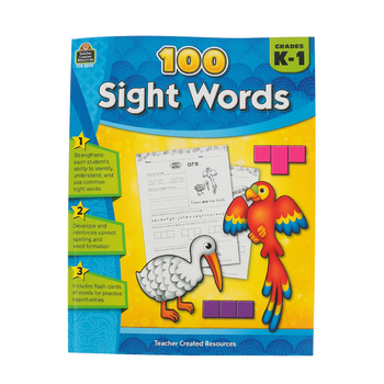 Teacher Created Resources, 100 Sight Words, Paperback, 128 Pages, Grades K-1