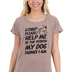 NOTW, My Dog, Women's High Low Fashion Top, Heather Mocha, X-Large