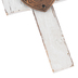 Love Weathered Wood Wall Cross, MDF, White, 5 1/4 x 3 1/4 inches