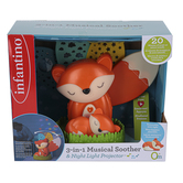 Infantino, Fox 3-In-1 Musical Soother & Night Light Projector, 12 3/4 x 5 1/2 x 11 inches