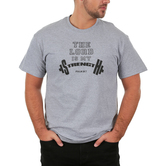 Red Letter 9, The Lord Is My Strength, Men's Short Sleeve T-Shirt, Sport Gray, S-3XL