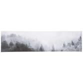Hazy Mountain Wall Decor, Canvas, Gray, 6 x 23 3/8 x 1 1/4 inches