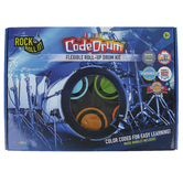 Mukikim, Rock and Roll It Color CodeDrum Flexible Roll-Up Drum Kit, 8 Pieces, Grades 1 and up