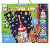 The Learning Journey, 123 Rocket Ship Long & Tall Floor Puzzle, 51 Pieces, 5 Feet Tall