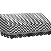 Teacher Created Resources, Black and White Chevron and Dots Awning, 24 x 12 1/2 x 8 Inches, 1 Piece