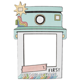 School Shop, Custom Photo Booth Frame Polaroid First Day BTS, Multi-Colored, 14 x 19 Inches, 1 Each
