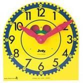 Carson-Dellosa, Judy Clock, 12.75 x 13.50 Inches, Multi-Colored, Gr. K-3