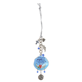 Abbey and CA Gift, Psalm 91:11 He Shall Give His Angels Car Charm, Blue & Silver, 4 inches