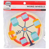 The Brainery, Word Wheels Word Families, 20 Wheels, 5 Inches, 40 Pieces, Grades K-3