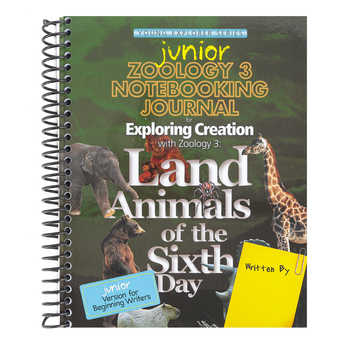 Apologia, Exploring Creation with Zoology 3 Junior Notebooking  Journal, Spiral, Grades K-3