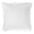 White Faux Fur Square Pillow, Acrylic and Polyester, 18 x 18 x 4 inches