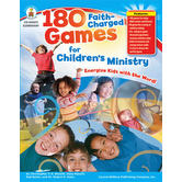 Carson-Dellosa, 180 Faith Charged Games for Children's Ministry, Reproducible, 192 Pages, Grades K-5