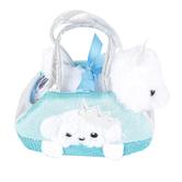 Aurora, Fancy Pals, Peek-A-Boo Princess Puppy Stuffed Animal, White, 7 inches